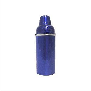 Porta Litro Alumínio Duplo Azul