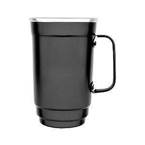 Caneca Alumínio 101-D 500 ml Preto Fosco