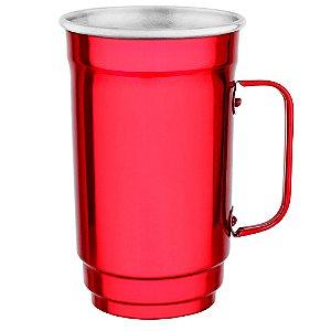 Caneca Alumínio 101-D 500 ml Vermelho Verniz