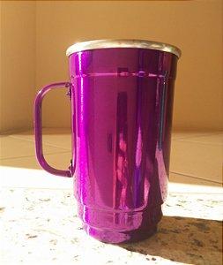 Caneca Alumínio 101-D 500 ml Violeta Verniz