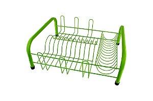Escorredor Louça Tubular Verde 41x35,5cm (LxP) -