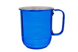 Caneca Alumínio República 600 ml Azul Verniz  -