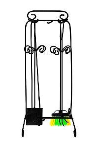 Kit Lareira 04 Acessórios 65 cm - Ferro/Preto -