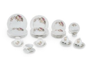 Serviço Jantar e Chá Porcelana 30 peças Dec. E351 Sch.114 -
