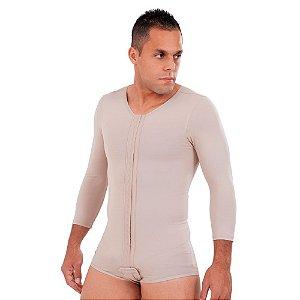 Modelador Masculino Com Mangas Sem Pernas Bioativa