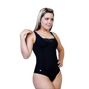 Body Modelador Feminino com Renda Bioativa