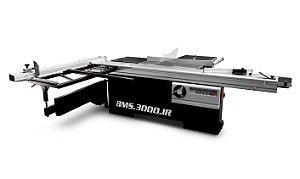 Esquadrejadeira de Precisão Manual 3000 Mm Com Eixo Inclinável e Riscador – BMS.3000.IR