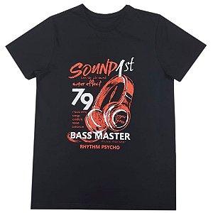 Camiseta Masculina Sound 1st - Preta (Brinde Máscara)