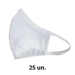 Máscara de Tecido Branca Algodão de Elástico - 25 un.