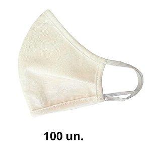 Máscara de Tecido Off White Algodão de Elástico - 100 un.