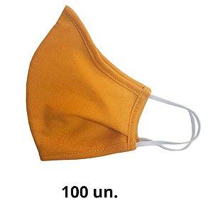 Máscara de Tecido Anatômica Amarela de Elástico - 100 un.