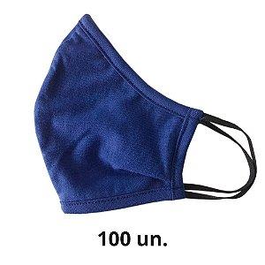 Máscara de Tecido Anatômica Azul de Elástico - 100 un.