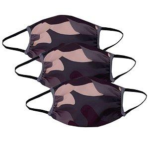 Kit c/ 3 Máscaras Camufladas - Modelo Tradicional **ÚLTIMAS UNIDADES**