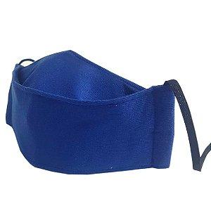 Máscara de Tecido 3D Azul Royal - Tripla Camada