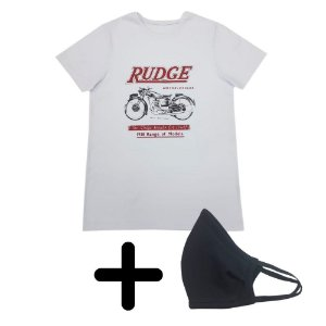 Camiseta Masculina Rudge + Máscara de Elástico Premium