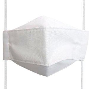 Máscara de Tecido 3D Branca - Tripla Camada