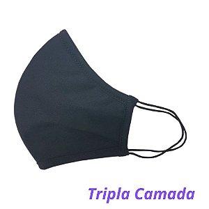 Máscara de Tecido Preta Confort - Tripla Camada