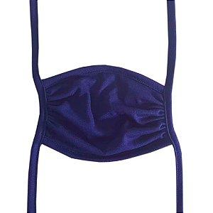Máscara Tecido Unissex de Amarrar - Azul Marinho