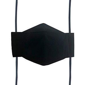 Máscara de Tecido 3D Preta - Tripla Camada