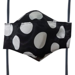 Máscara de Tecido 3D Poá Bolinhas - Tripla Camada