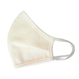 Máscara de Tecido Anatômica Off White Premium - Com Elástico