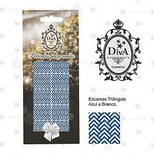Peliculas Diva Graficos Escama de Triangulo Azul e Branco