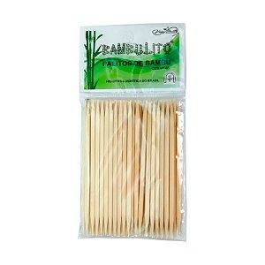 Palito De Bambu Para Unha 14cm 2 Pontas - 50un