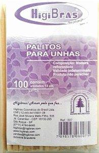Palitos para Unhas 13 cm  Com 100 Unidades