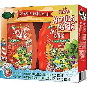 Aqua Kids Kit Sh+Co 250ml Lisos/Finos