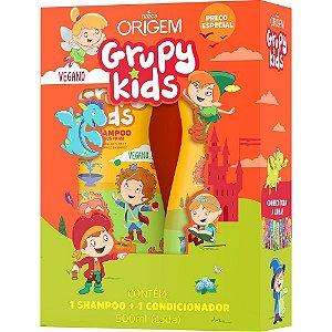 Grupy Kids Kit SH + Cond 500ml Adeus Frizz