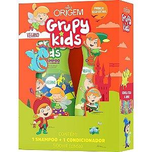 Grupy Kids Kit SH + Cond 500ml Brilho Iluminado