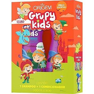 Grupy Kids Kit SH + Cond 500ml Força Vitaminada