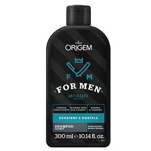 Origem For Men Shampoo Anticaspa 300ml