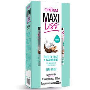 Kit Origem Maxiliss Coco e Tamarindo (SH 300ml + Cond 300ml)