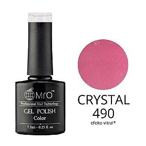 Esmalte em Gel UV/LED Cor 490 Crystal Marca MRO 7,5ml