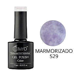 Esmalte em Gel UV/LED Cor 529 Marmorizado Marca MRO 7,5ml