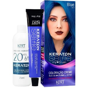 TINT KERATON SELFIE MY CRUSH AZUL/ BLUE 50G