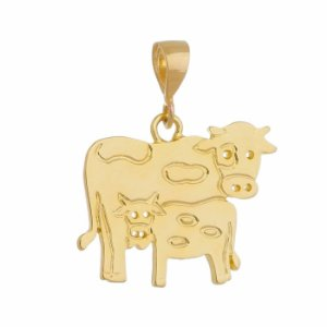 Pingente Vaca com Bezerro