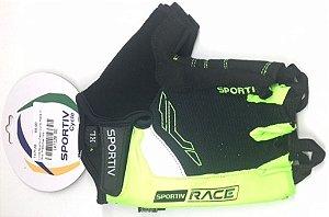 Luva Sportiv Race O Grip Preto e Verde