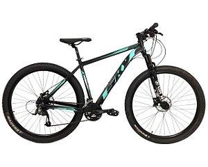 Bicicleta Sky 24V Turquesa e Preto Hidráulico