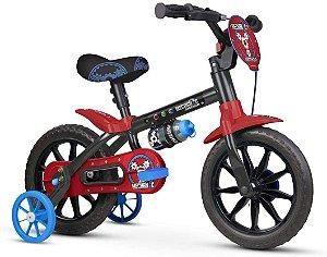 Bicicleta Aro 12 Nathor Mechanic Preto e Vermelho