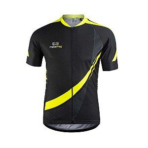 Camisa Marcio May Masculina Light Preto e Amarelo
