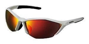 Oculos Shimano S61R-PL Branco Metalico e Preto Espelhado