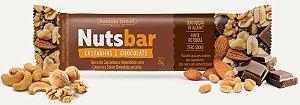 Barra Nutsbar 25g Castanha, Amendoim e Cobertura Chocolate