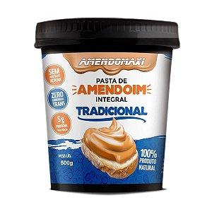 Pasta de Amendoim 500g Integral Tradicional
