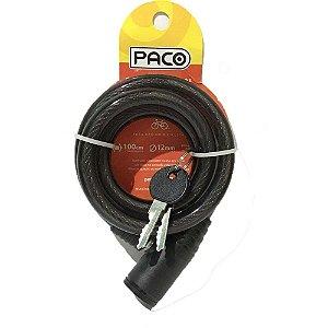 Cadeado Espiral CHAVE 12X1000 Paco