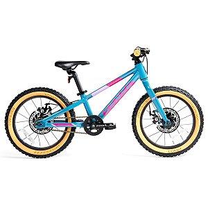 Bicicleta Aro 16 Sense Grom 2021 Aqua e Rosa