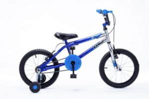 Bicicleta Aro 16 DNZ Freestyle Azul e Aluminio