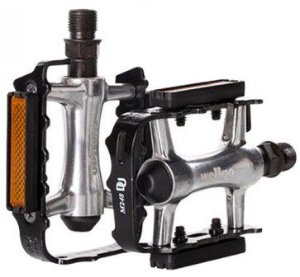 Pedal 9/16 Wellgo Aluminio Natural Com Preto M248