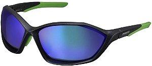 Oculos Shimano S71X-PL Preto Metalico Verde